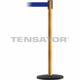 Tensabarrier Yellow Slimline 7.5'L Blue Retractable Belt Barrier