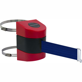 Tensabarrier Red Clamp Wall Mount 30'L Blue Retractable Belt Barrier