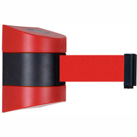 Tensabarrier Red Wall Mount 30'L Red Retractable Belt Barrier