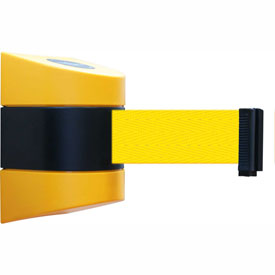 Tensabarrier Yellow Wall Mount 15'L Yellow Retractable Belt Barrier