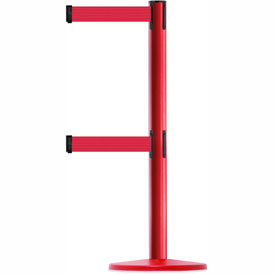 Tensabarrier Red Advance Univ Dual Line 7.5'L Red Retractable Belt Barrier