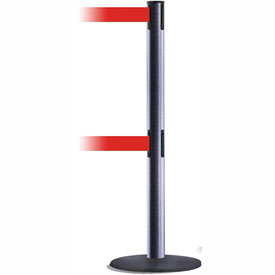 Tensabarrier Hammer Gray Advance Univ Dual Line 7.5'L Red Retractable Belt Barrier