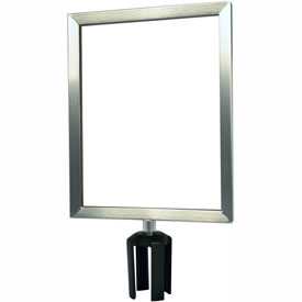 "Tensabarrier Satin Chrome Heavy Duty 11""x14"" Sign Frame"