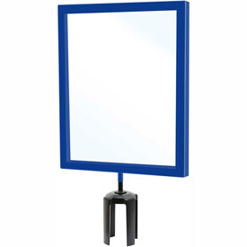 "Tensabarrier Blue Heavy Duty 11""x14"" Sign Frame"