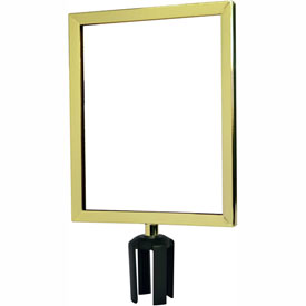 "Tensabarrier Polished Brass Heavy Duty 11""x14"" Sign Frame"