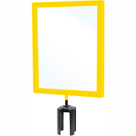 "Tensabarrier Yellow Heavy Duty 11""x14"" Sign Frame"