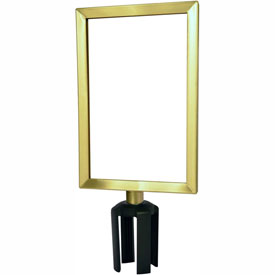 "Tensabarrier Satin Brass Heavy Duty 7""x11"" Sign Frame"