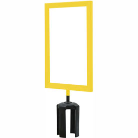 "Tensabarrier Yellow Heavy Duty 7""x11"" Sign Frame"