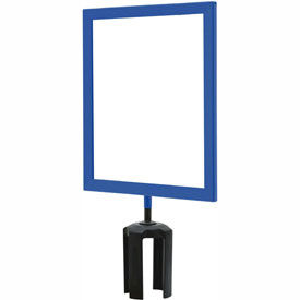 "Tensabarrier Blue Heavy Duty 8.5""x11"" Sign Frame"