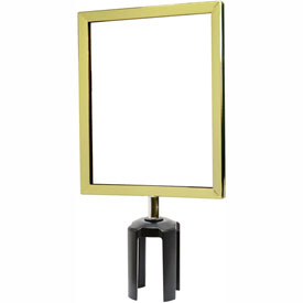 "Tensabarrier Polished Brass Heavy Duty 8.5""x11"" Sign Frame"