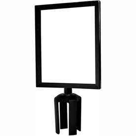 "Tensabarrier Black Heavy Duty 8.5""x11"" Sign Frame"