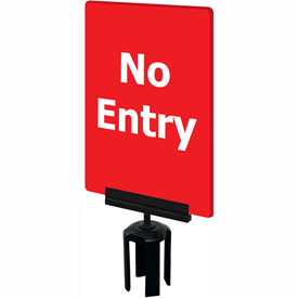 "Tensabarrier Red 7""x11"" 1/4"" Thick Acrylic Sign - No Entry"