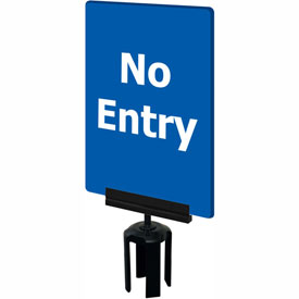 "Tensabarrier Blue 7""x11"" 1/4"" Classic Acrylic Sign - No Entry"