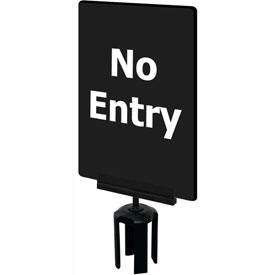 "Tensabarrier 7""x11"" 1/4"" Classic Acrylic Sign, Black - ""No Entry"""