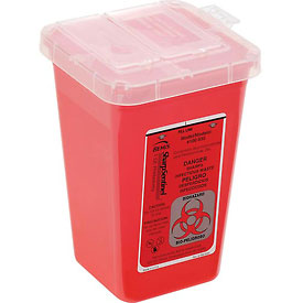 "1-Quart Sharps Container, 4-1/2""W x 4-1/2""D x 6-3/4""H"