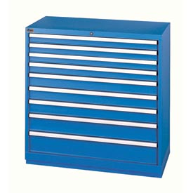 Lista® 9 Drawer Shallow Depth Cabinet - Blue, Individual Lock