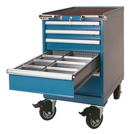 """Lista® 5 Drawer 18""""W Mobile Cabinet - Classic Blue"""