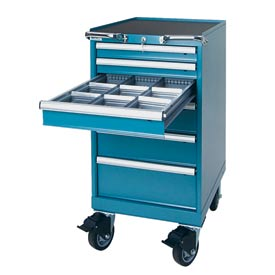 """Lista® 6 Drawer 18""""W Mobile Cabinet - Classic Blue"""