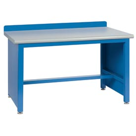 Technical Workbench with Tech Legs, Plastic Laminate Top - Blue