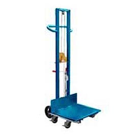Vestil Steel Construction Lite Load Lift LLW-242060-4SFL - Winch Operation