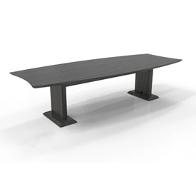 """Mayline® 120"""" Rectangle Conference Table - Textured Driftwood - Sterling Series"""