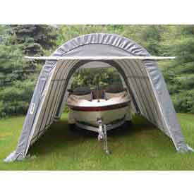 Gray Round 14' W x24' L x10' H SUV/ Boat Shelter