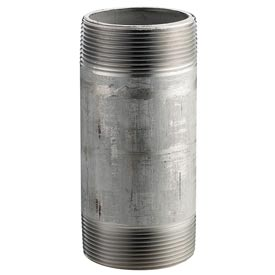 Ss 304/304l Schedule 40 Welded Pipe Nipple 3/8x4-1/2 Npt Male - Pkg Qty 50