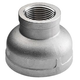"""Iso Ss 304 Cast Pipe Fitting Reducing Coupling 3"""" X 2"""" Npt Female - Pkg Qty 4"""