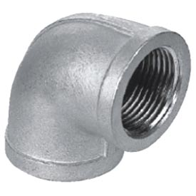 "Iso Ss 316 Cast Pipe Fitting 90 Degree Elbow 3/8"" Npt Female - Pkg Qty 50"