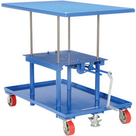 Vestil Hand Crank Operated Mechanical Post Table MT-2436-LP 24 x 36 Low Profile
