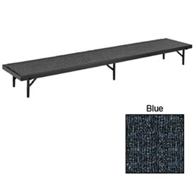 "Riser Straight with Carpet - 96""L x 18""W x 8""H - Blue"