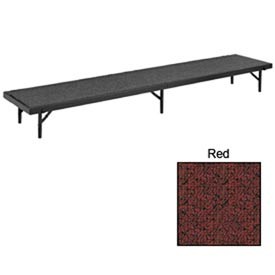 """Riser Straight with Carpet - 96""""L x 18""""W x 8""""H - Red"""