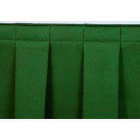 "4'L Box-Pleat Skirting for 32""H Stage - Green"