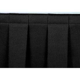 "4'L Box-Pleat Skirting for 8""H Stage - Black"
