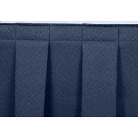 "4'L Box-Pleat Skirting for 8""H Stage - Blue"
