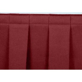 """4'L Box-Pleat Skirting for 8""""H Stage - Red"""