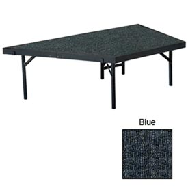 """Stage Pie Unit with Carpet for 36""""W x 16""""H Stage Units - Blue"""