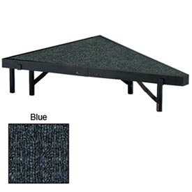 "Stage Pie Unit with Carpet for 36""W x 8""H Stage Units - Blue"