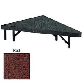 "Stage Pie Unit with Carpet for 48""W x 8""H Stage Units - Red"