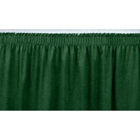 "4'L Shirred-Pleat Skirting for 24""H Stage - Green"