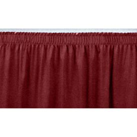 "4'L Shirred-Pleat Skirting for 32""H Stage - Red"
