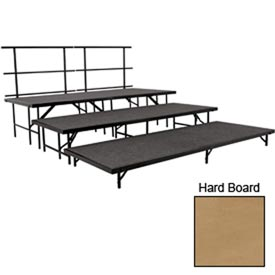 "Stage Set with Hardboard - 96""L x 48""W - 8""H, 16""H, 24""H & Two Guard Rails"