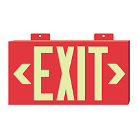 Glo-Brite Exit - Red Single Face w/ Bracket