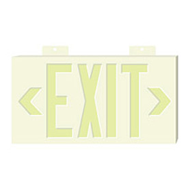 Glo-Brite Exit - White Double Face w/ Bracket
