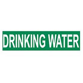 Pressure-Sensitive Pipe Marker - Drinking Water, Pack Of 25