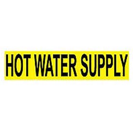 Pressure-Sensitive Pipe Marker - Hot Water Supply, Pack Of 25