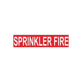 Pressure-Sensitive Pipe Marker - Sprinkler Fire, Pack Of 25