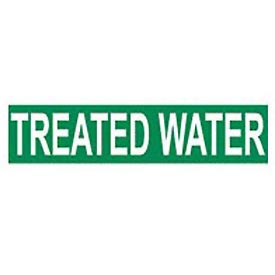 Pressure-Sensitive Pipe Marker - Treated Water, Pack Of 25