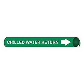 Precoiled and Strap-on Pipe Marker - Chilled Water Return