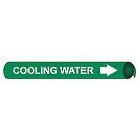 Precoiled and Strap-on Pipe Marker - Cooling Water